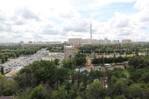 Вид на Москву из колеса обозрения